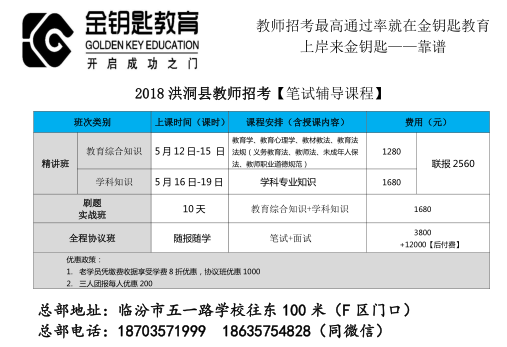 2018洪洞教师精讲班5月12日开课1